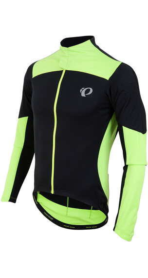 PEARL iZUMi P.R.O. Pursuit LS Wind Jersey Men Black/Screaming Green